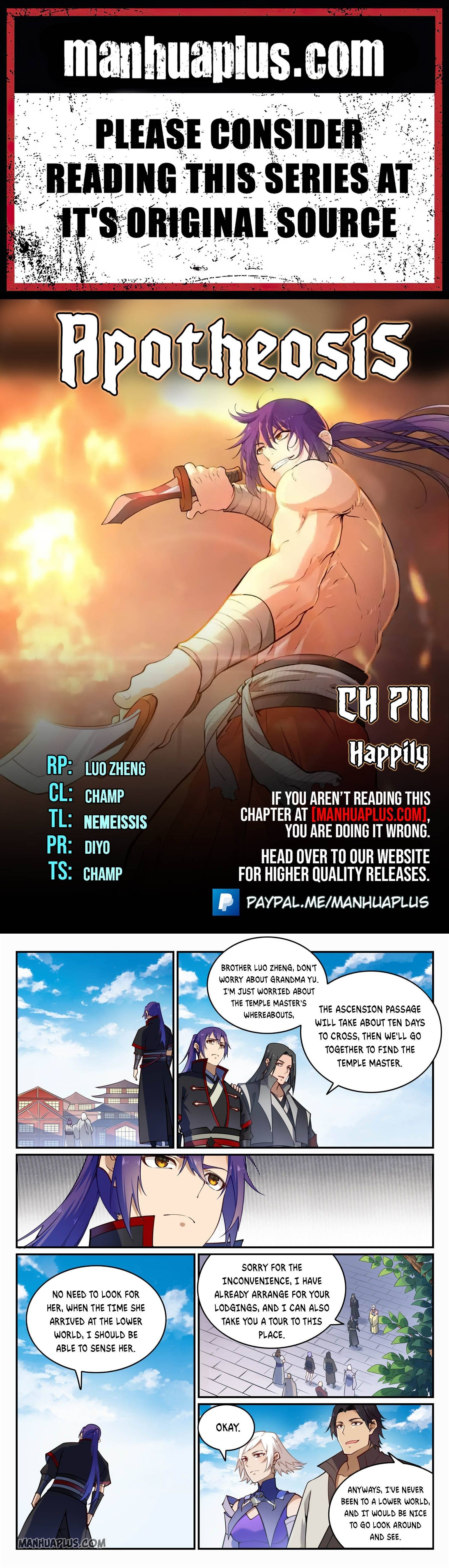 Manga Apotheosis - Chapter 711 Page 1