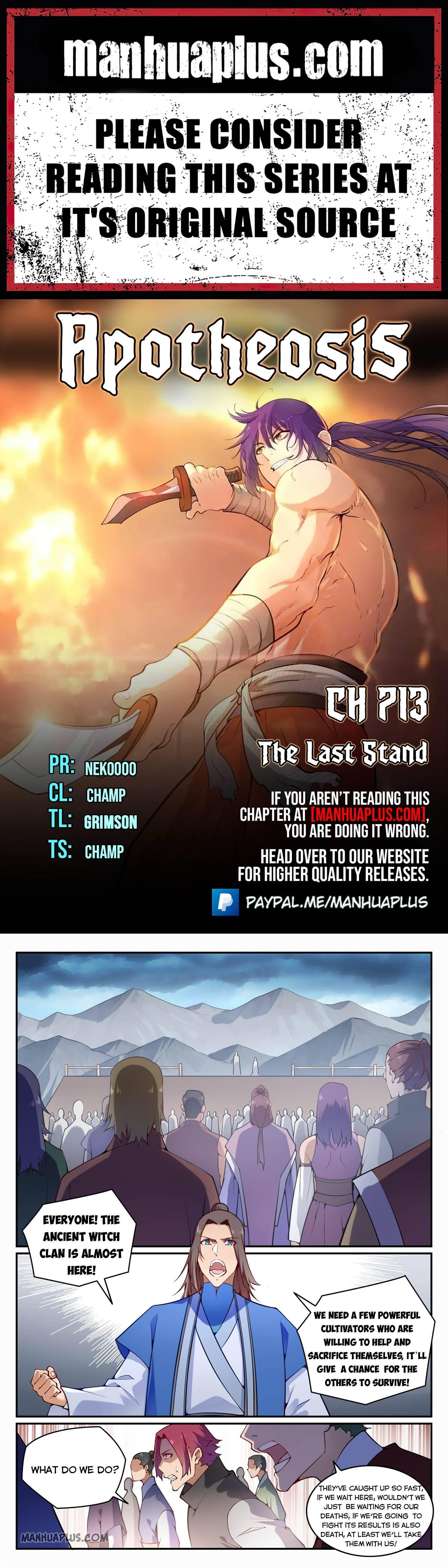 Manga Apotheosis - Chapter 713 Page 1