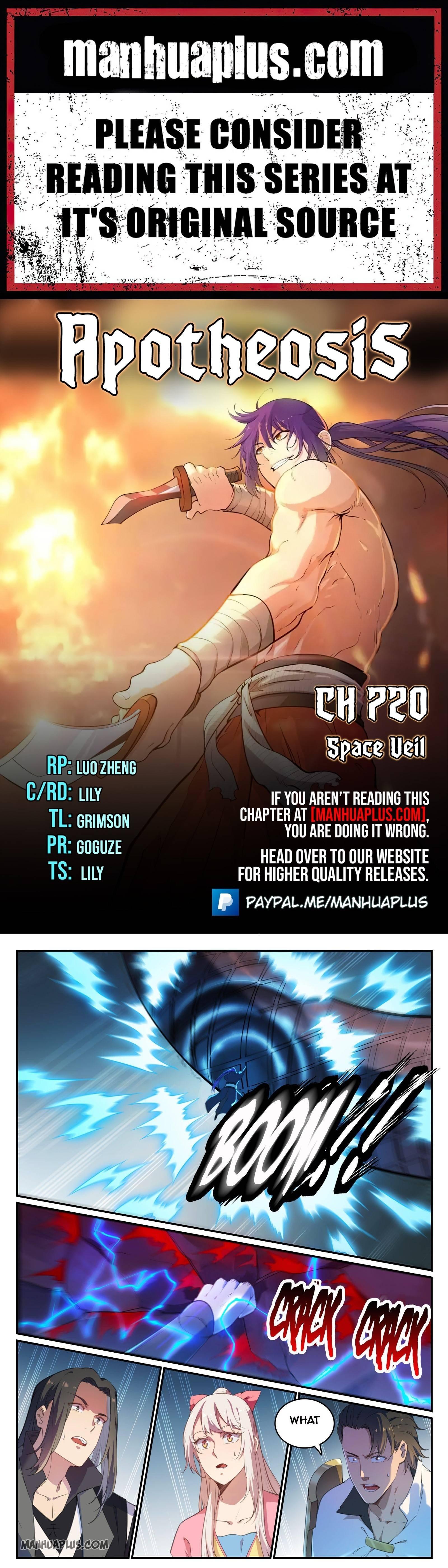 Manga Apotheosis - Chapter 720 Page 1