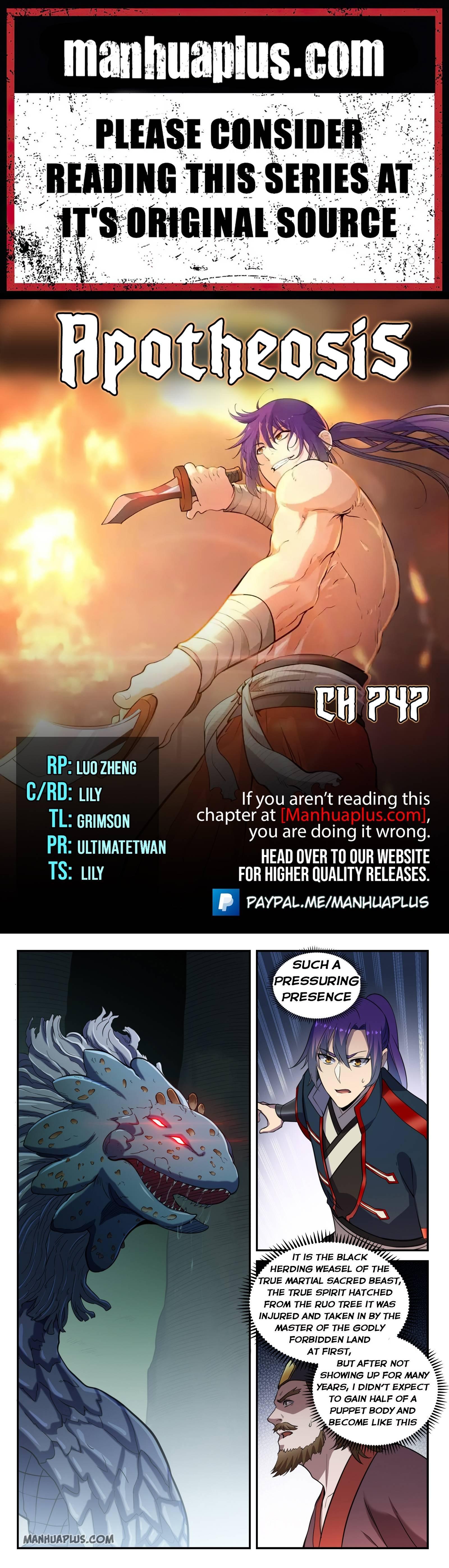 Manga Apotheosis - Chapter 747 Page 1