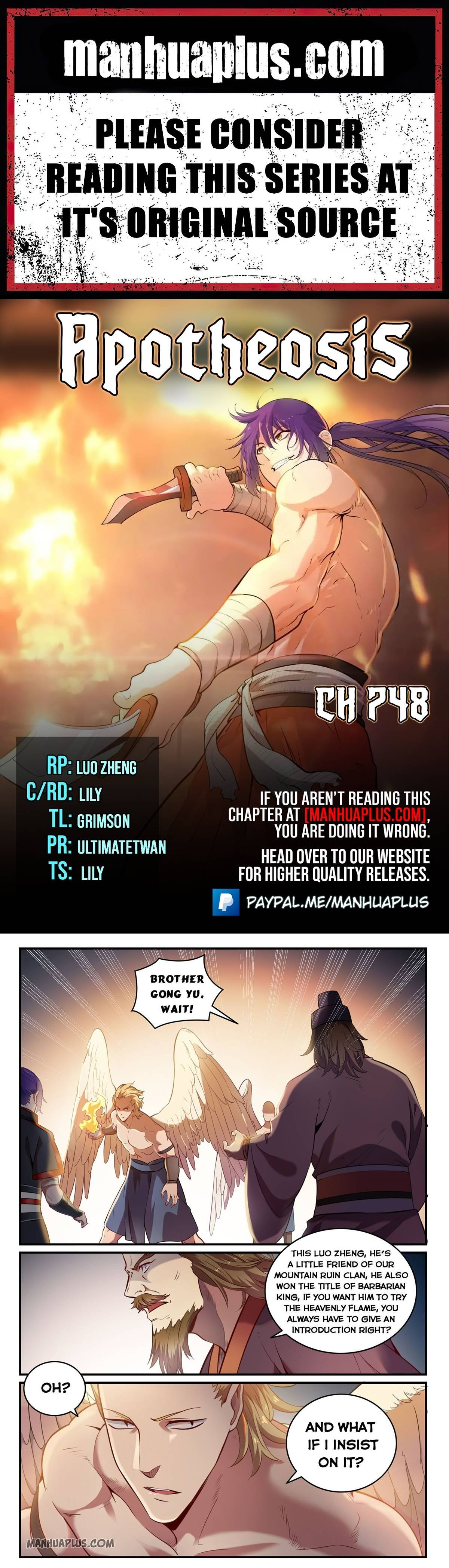 Manga Apotheosis - Chapter 748 Page 1