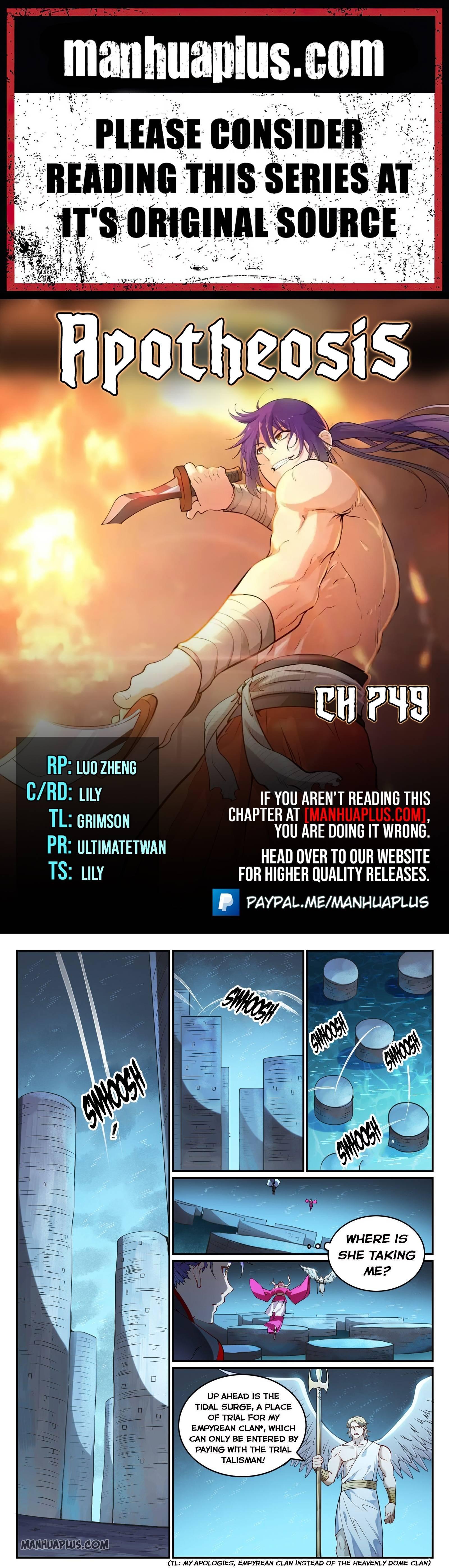 Manga Apotheosis - Chapter 749 Page 1