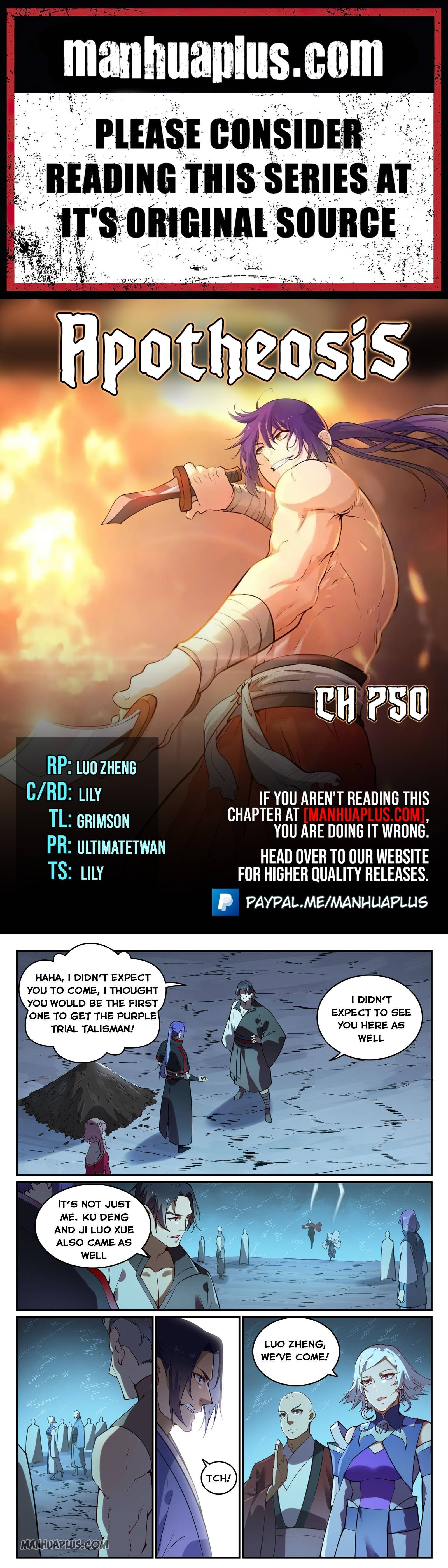 Manga Apotheosis - Chapter 750 Page 1