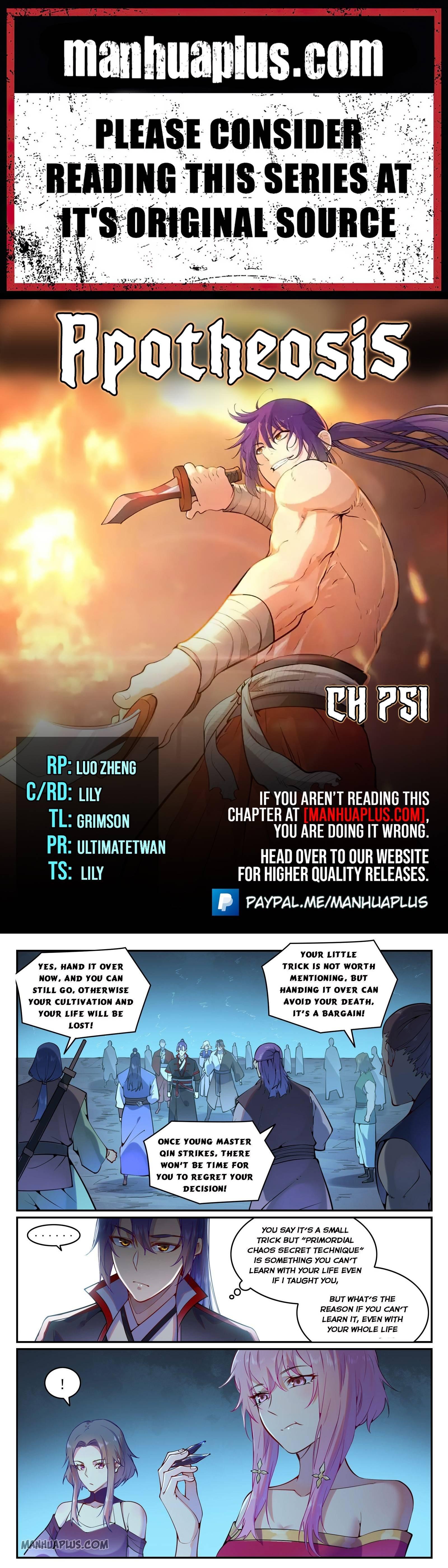 Manga Apotheosis - Chapter 751 Page 1