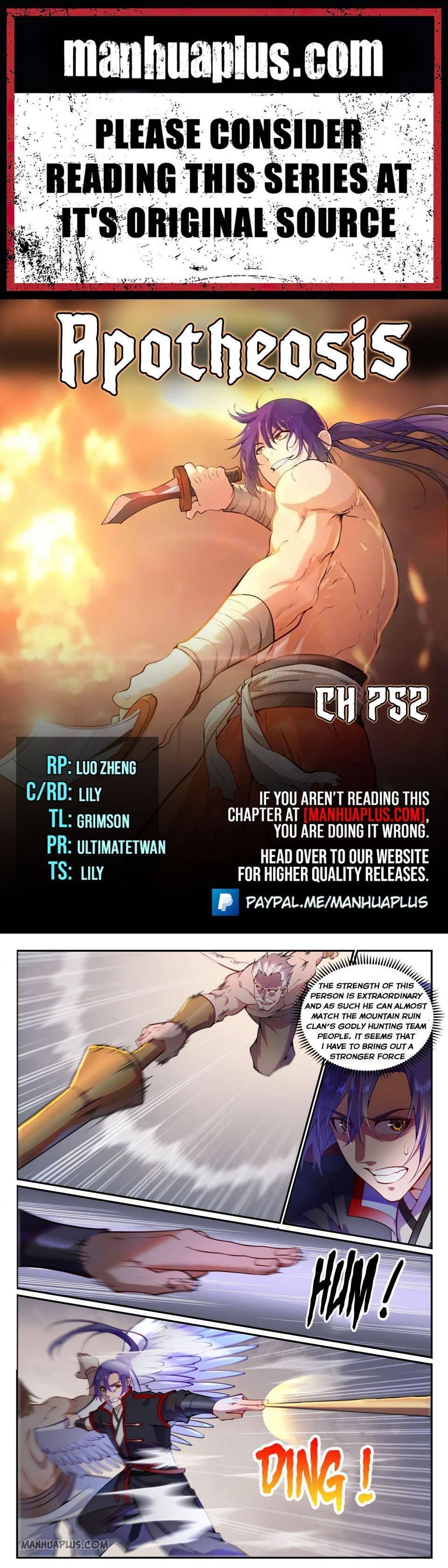 Manga Apotheosis - Chapter 752 Page 1