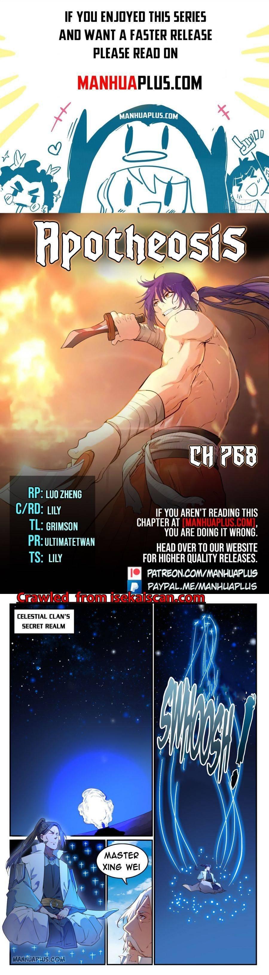 Manga Apotheosis - Chapter 768 Page 1