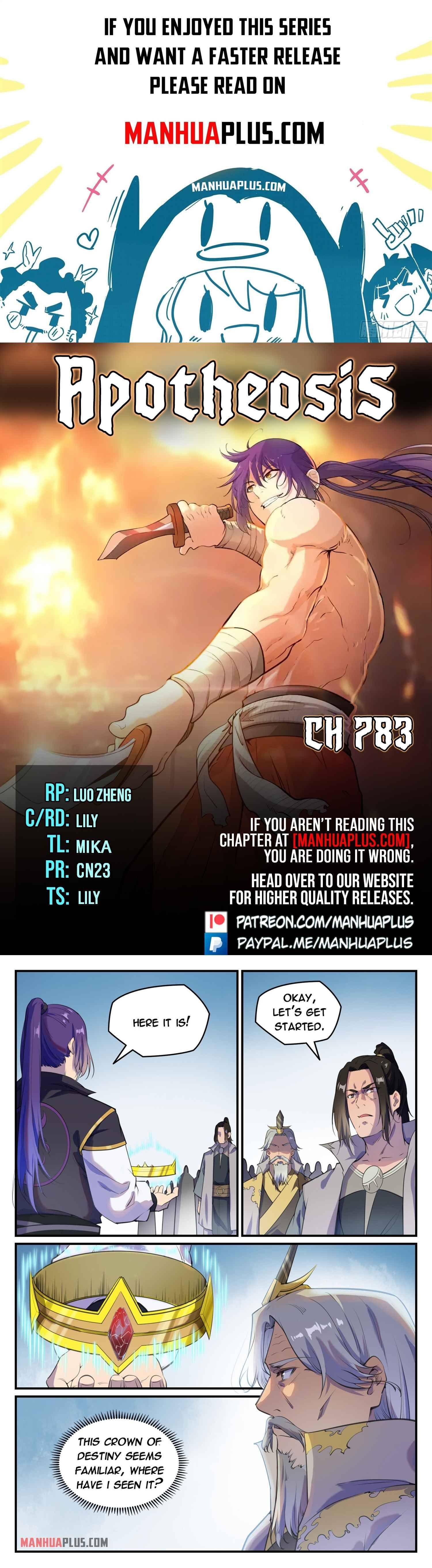 Manga Apotheosis - Chapter 783 Page 1