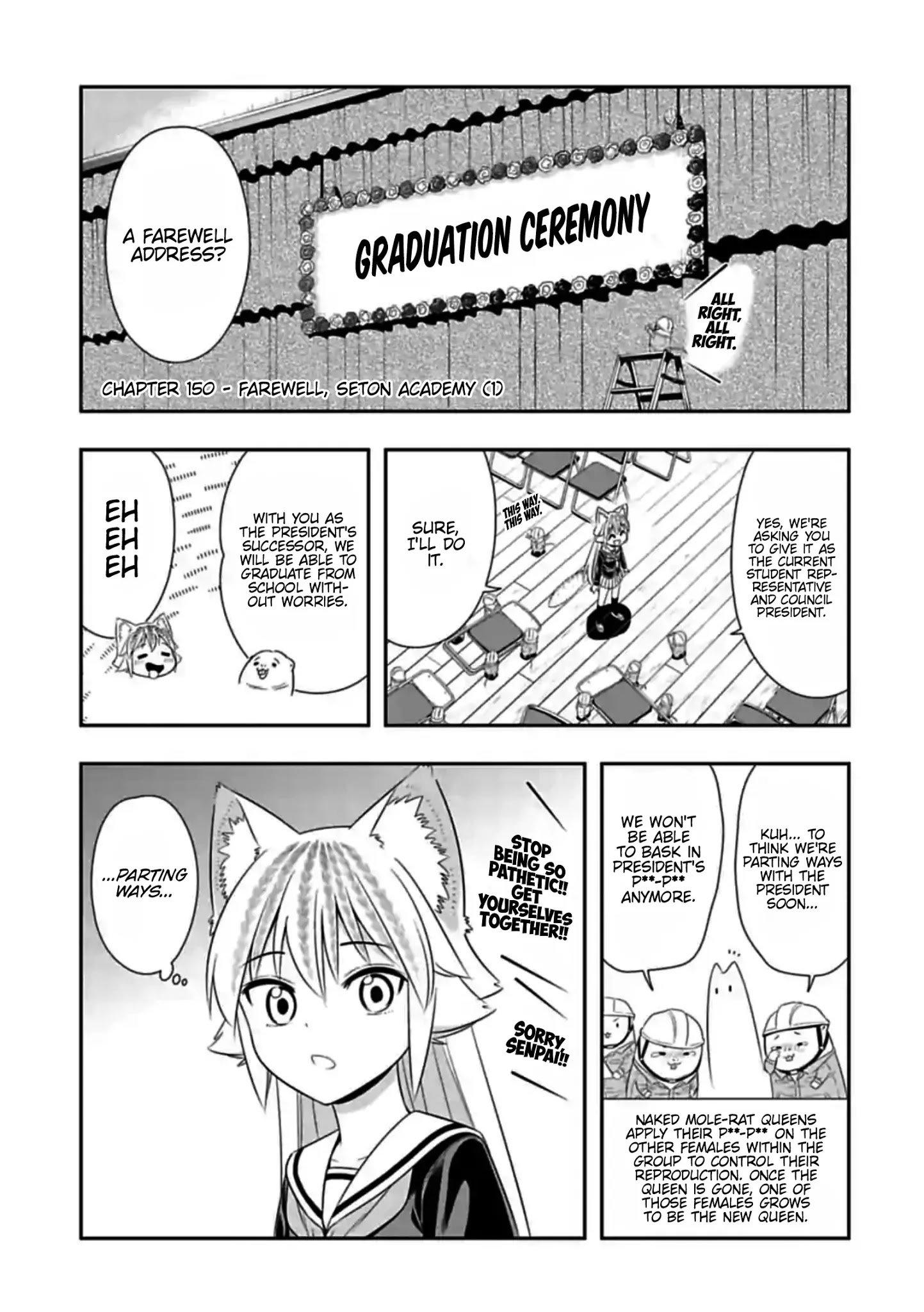 Manga Murenase! Shiiton Gakuen - Chapter 150 Page 1
