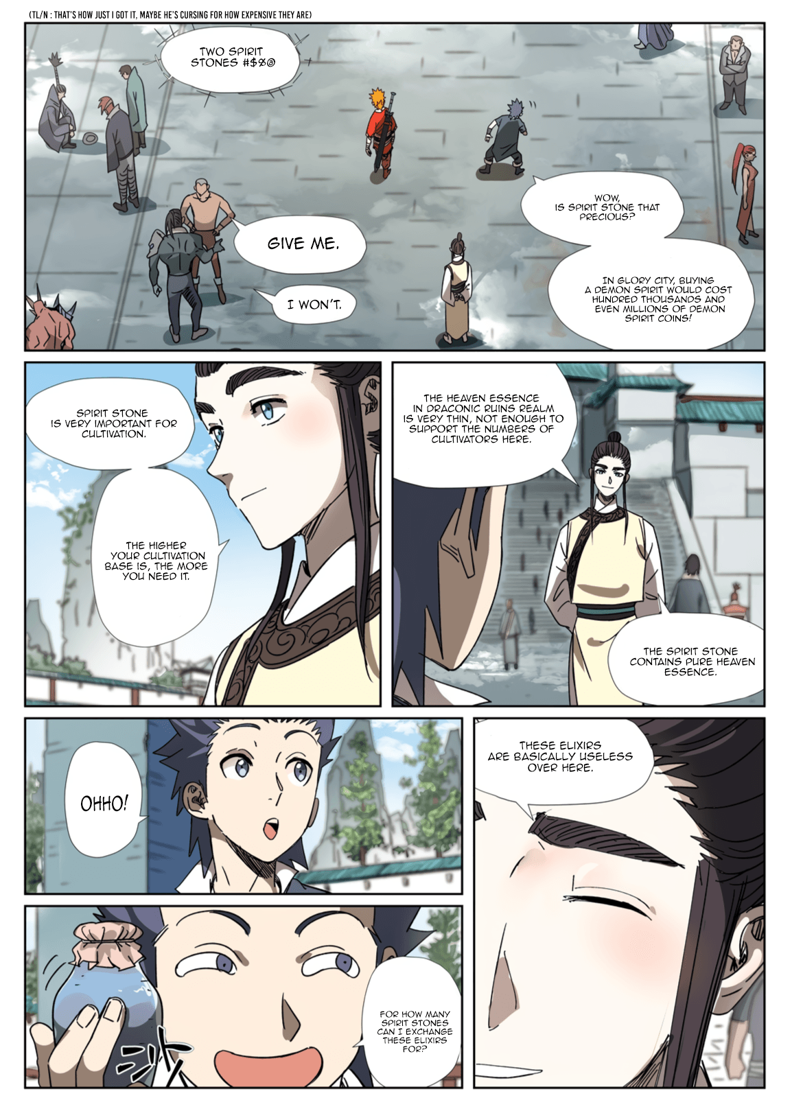 Manga Tales of Demons and Gods - Chapter 301.1 Page 8
