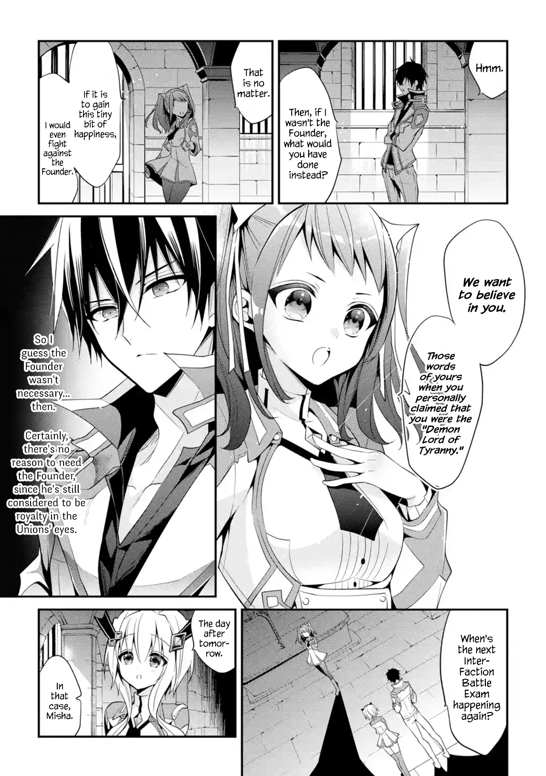 Manga The Misfit of Demon King Academy: History's Strongest Demon King Reincarnates and Goes to School with His Descendants - Chapter 13.5 Page 1