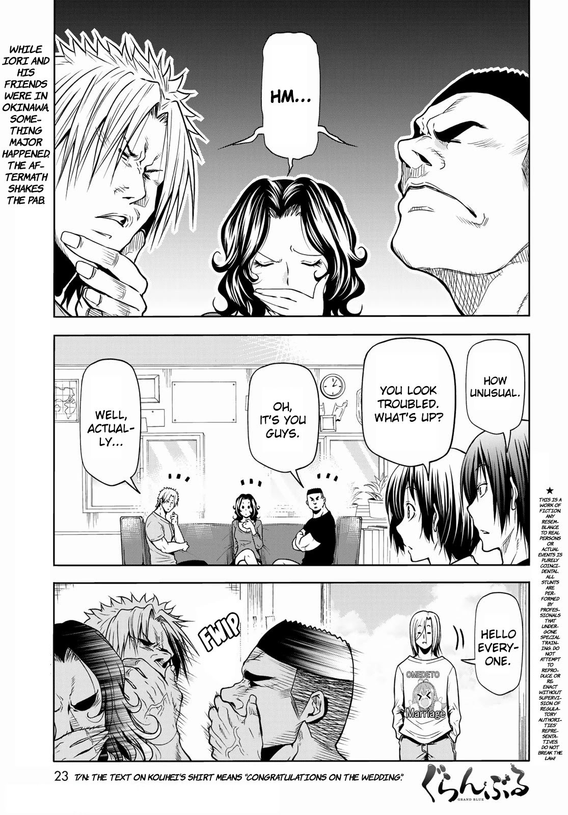 Manga Grand Blue Dreaming - Chapter 72 Page 1
