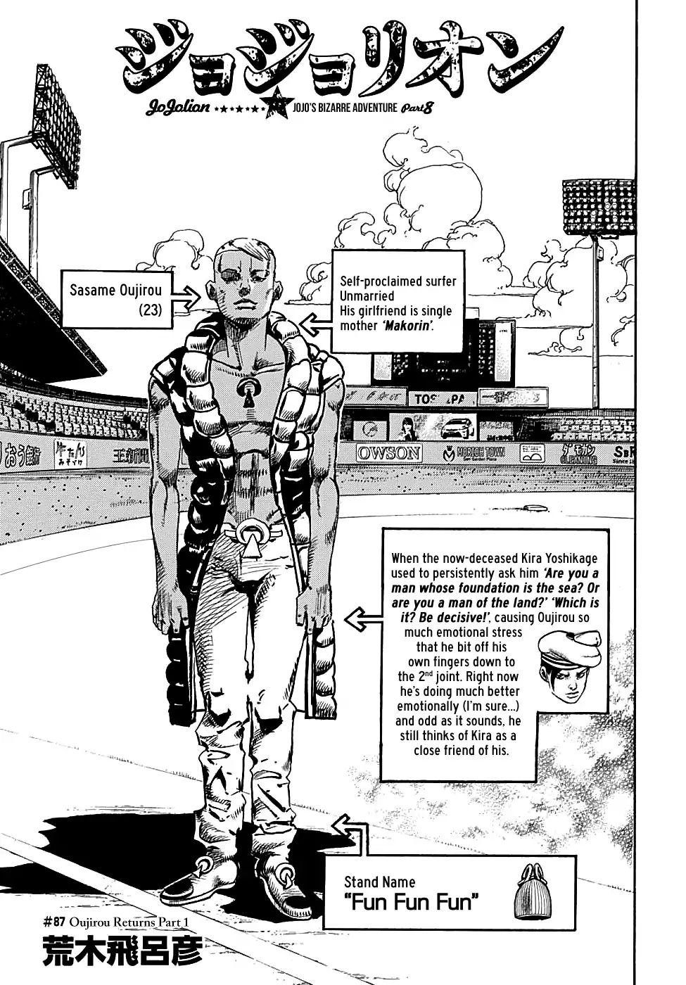 Manga Jojo No Kimyou Na Bouken - Chapter 934 Page 1