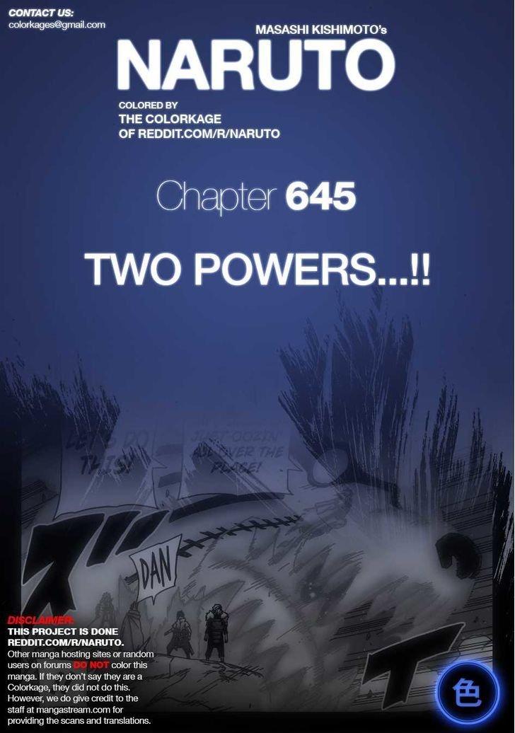 Manga Naruto - Chapter 645.1 Page 1