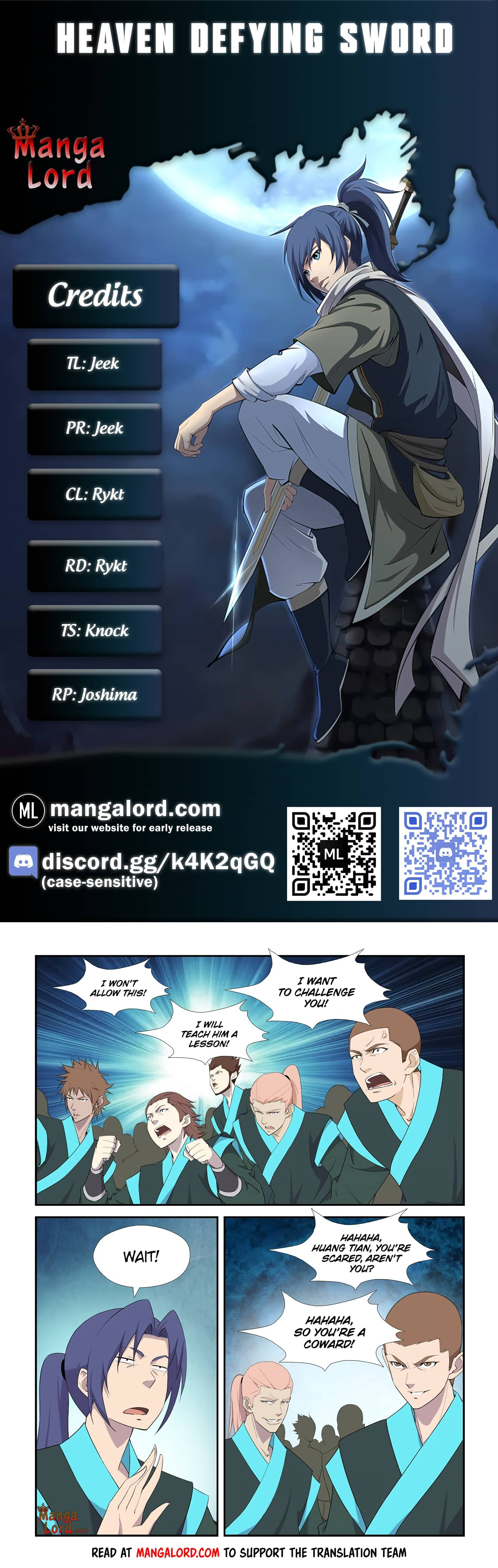 Manga Heaven Defying Sword - Chapter 294 Page 1
