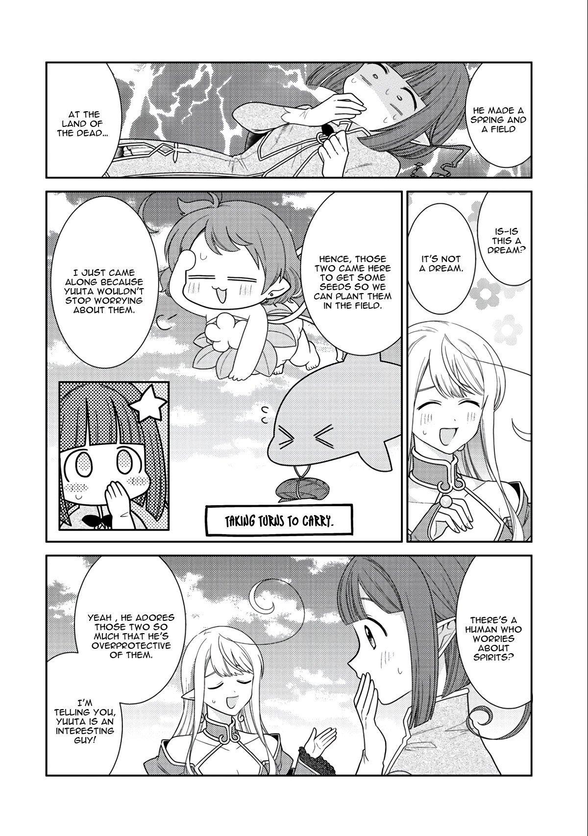 Manga Seirei-tachi no Rakuen to Risou no Isekai Seikatsu - Chapter 13 Page 23