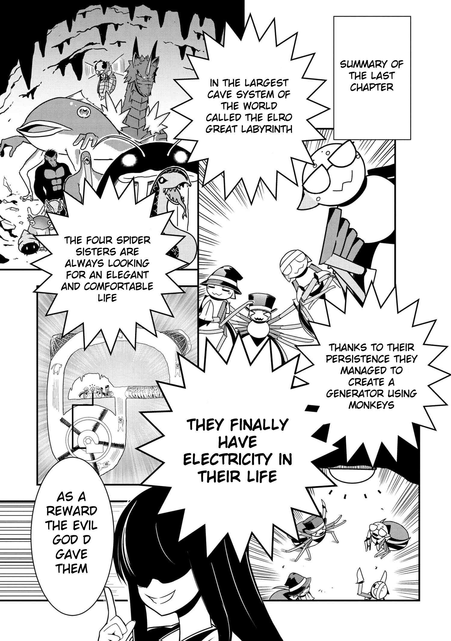 Manga Kumo Desu ga, Nani ka? Daily Life of the Four Spider Sisters - Chapter 52 Page 1